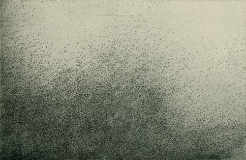 Nothingness, by Tonia Bonnell. Etching, 2003.